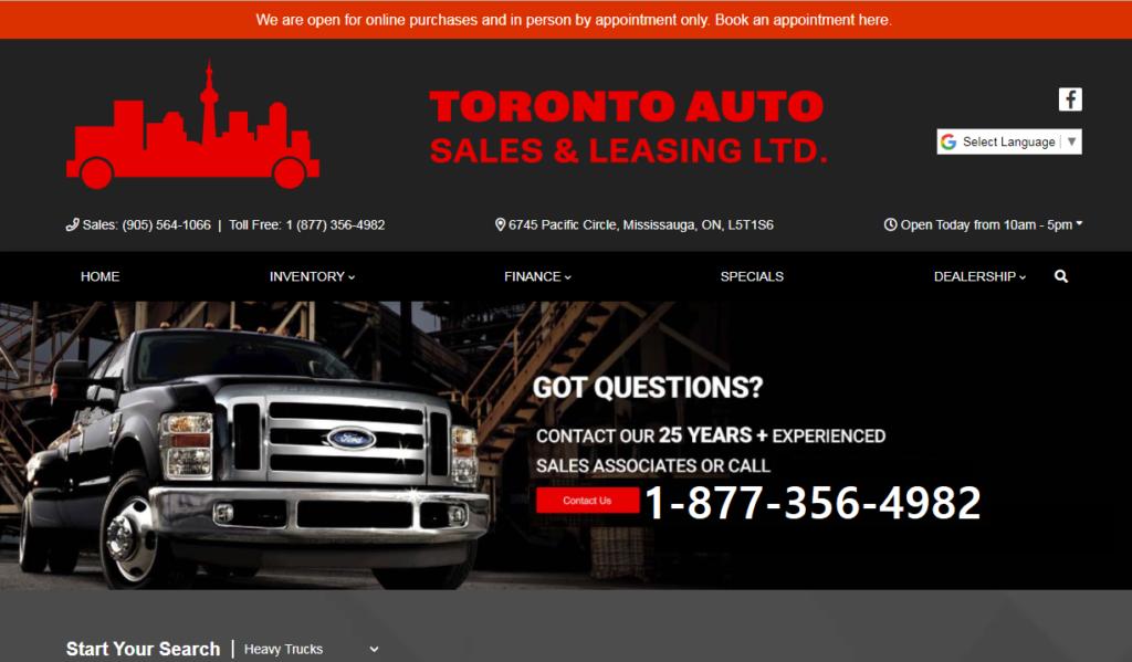 Toronto Auto Sales Ad