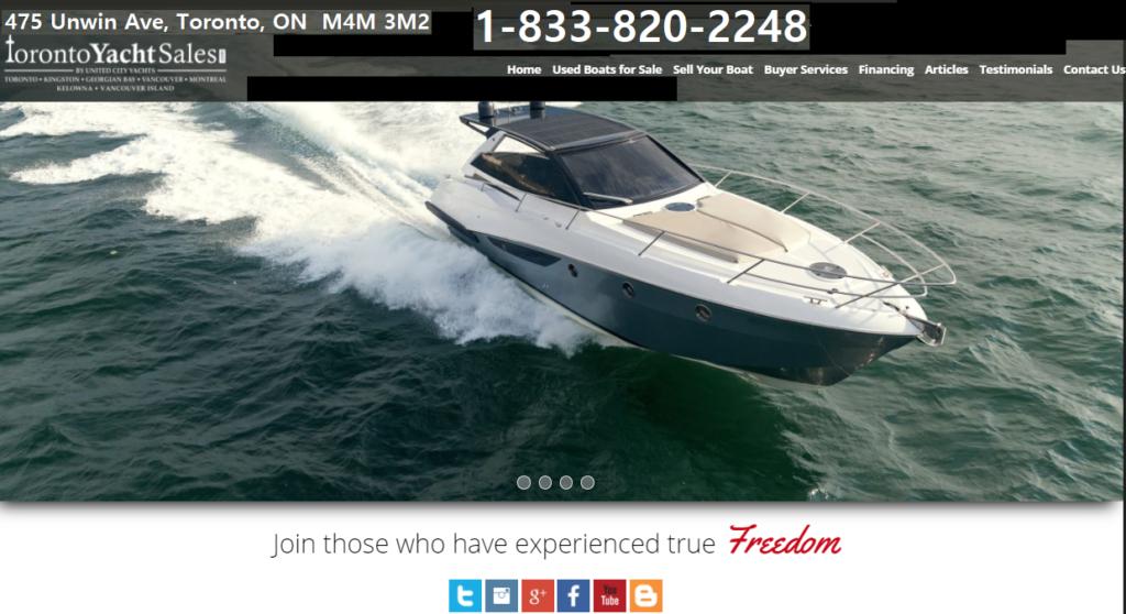 Toronto Yacht Sales Ad